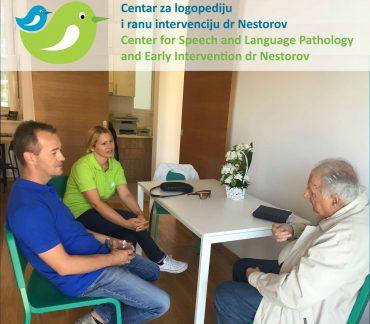 """Naš mentor i dugogodišnji saradnik, dečiji psihijatar prof.dr Svetomir Bojanin, posetio je """"Centar za logopediju i ranu intervenciju dr Nestorov""""."""